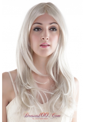 Long Gray Wavy Synthetic European Style Wig