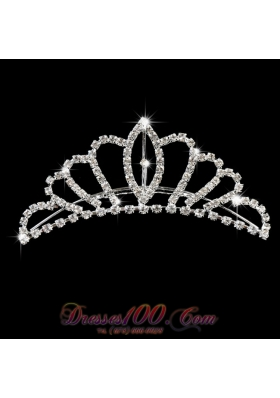 Ladies Tiara Adorned With Shimmering Rhinestone