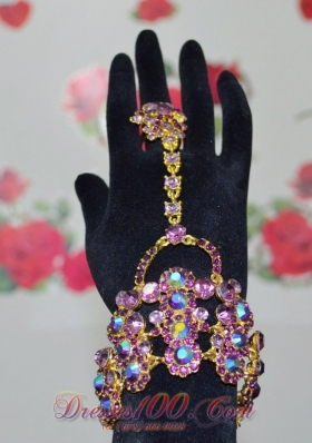 Fashion Multi-color Alloy Rhinestone Ladies' Bracelet