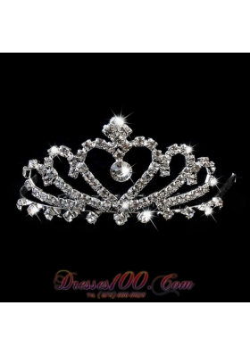 Shimmering Princess Quinceanera Tiara With Rhinestones