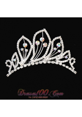 Alloy With Rhinestone Ladies Tiara for Quinceanera