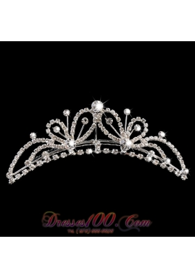 Butterfly Tiara With Rhinestone Embellishments