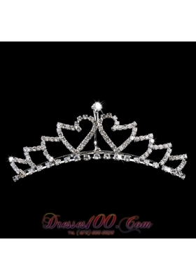 Alloy With Rhinestone Flower Girl Tiara for Pageant