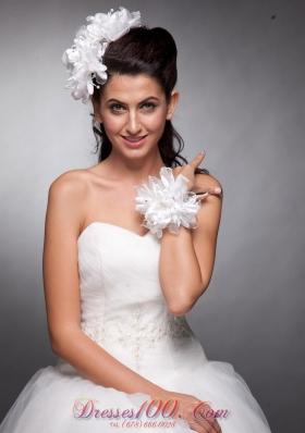 Organza and Taffeta Headpieces Bridal Wrist Corsage