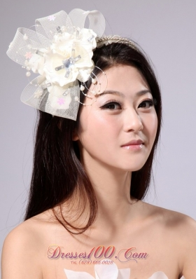 With Beading and Ribbons Tulle Women Hairband