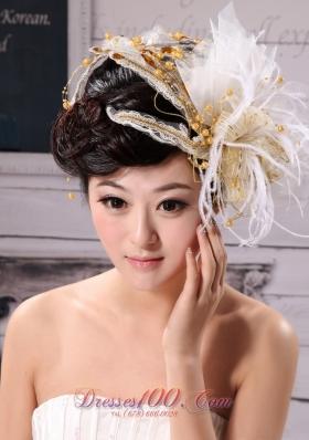 Feather Flower Hairpin Tulle 2013 Wedding Wear