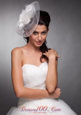 Pearls Net Taffeta Bridal Hat Wedding Headpieces