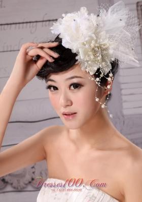 Hand Made Flower Tulle Fascinators Imitation Pearls