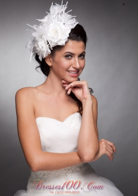 Taffeta Hand Made Flowers Wedding Headpieces