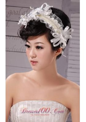 Tulle Silk Ribbon Women Wedding Outdoor Fascinator