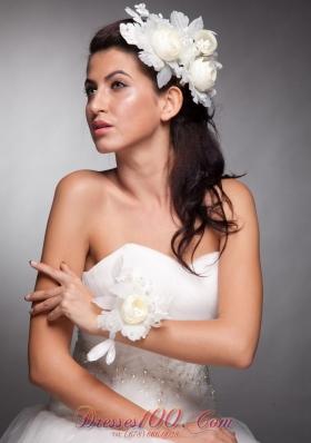 Hand Made Flowers Women Wedding Wrist Corsage