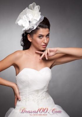 Floral Organza and Taffeta Wedding Party Headpieces