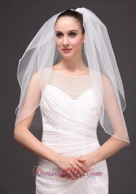 Two-tier Cut Edge Tulle Drop Bridal Veil