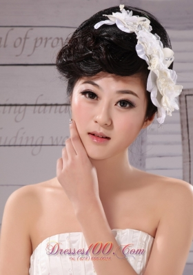 Imitation Pearls Hand Made Flowers Women Fascinator