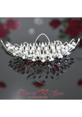 Ladies' Tiara Imitation Pearls for Wedding
