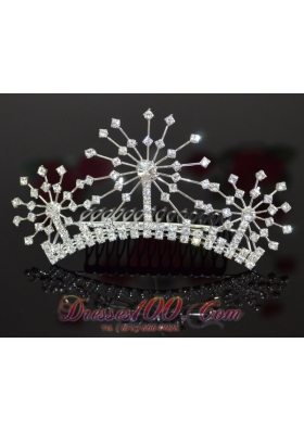 Customize Alloy With Rhinestone Ladies' Tiara