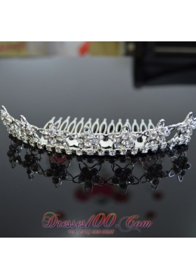 Rhinestone Ladies' Tiara for Special Occasion