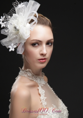 Women 's Fascinators With Hand Made Flowers Ribbons