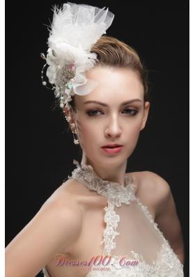 Feather Colorful Rhinestones Imitation Pearls Headpieces