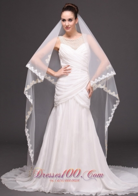 Two-tier Lace Edge Bridal Veils For Wedding Classic