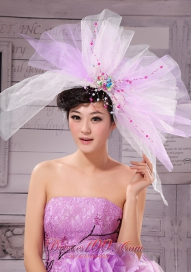 Corolla Large Hat Headpiece in Lavender 2014