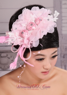 Rose Pink Headpiece 2013 Fully Beaded