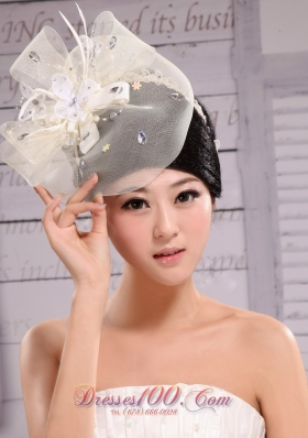 White Net Yarn Fashion Pearl Tire for Prom