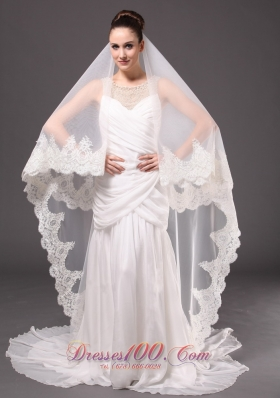 One-tier Cathedral Tulle 2013 Wedding Veil