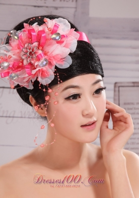 Imitation Pearl Rhinestone Headpiece Wedding