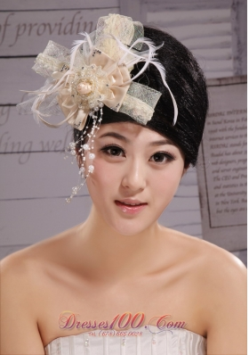 Headpiece Champagne Feather for Wedding