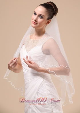 Royal Designer Tulle Ribbon Edge Bridal Veil