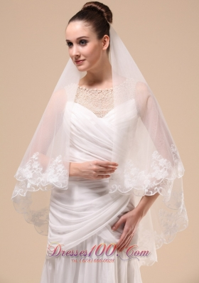 Wedding Veil 2013 Lace Applique Tulle