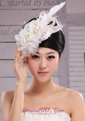 2013 Bridal Bud Silk Yarn Feather Beaded