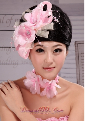 Beautiful Light Pink 2013 Pearl Headpiece