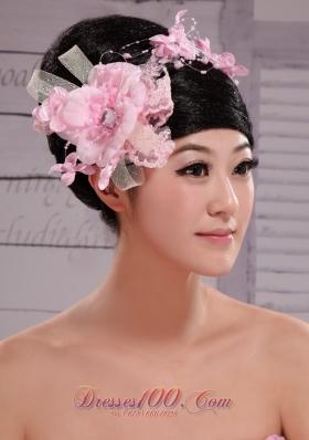 Pink Chiffon Bud Silk Pearl 2013 Net Flower