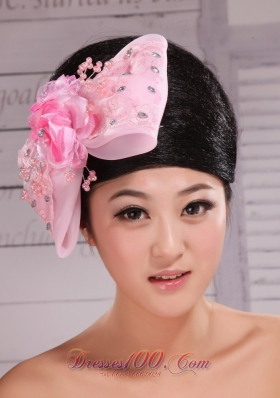 Baby Pink Lace and Rhinestone Headpiece 2013