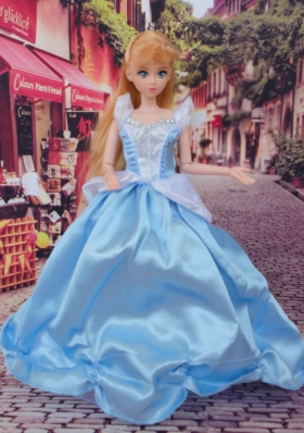 Straps Baby Blue Barbie Doll Clothes Princess