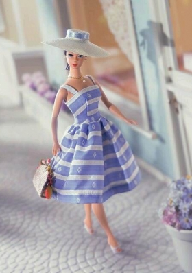 Party Style Barbie Doll Wear Knee Length Straps