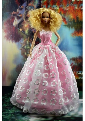 New Embroidery and A-line For Barbie Doll Dress