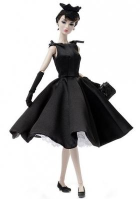 Black Ruffled Scoop Barbie Doll Dresses