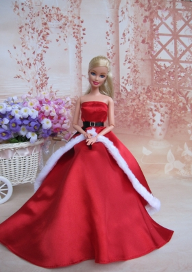 Christmas Belt Dress For Noble Barbies