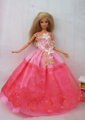 Pink Lace Handmade Dress for Noble Barbie