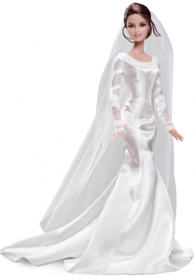Mermaid White Barbie Wedding Dress For Barbie Doll