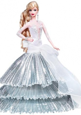 Silver Organza With Special Made Party Dress for Barbie Doll