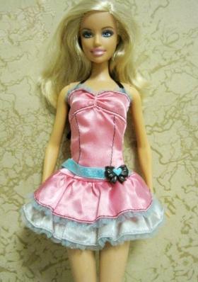 Halter Top Neckline Barbie Doll Dress Bowknot Short Pink