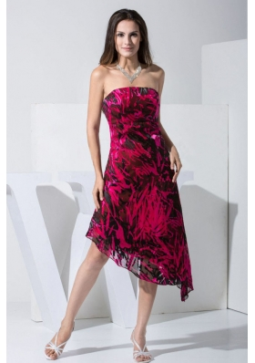 Strapless 2013 printed Prom Dress For Formal Evening