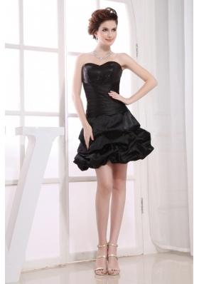 A-line Pick-ups Little Black For Prom Mini-length