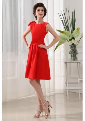 Low Price Scoop Red Prom Dress Knee-length