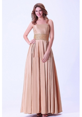 Beaded Prom Evening Dress Ankle-length Chiffon