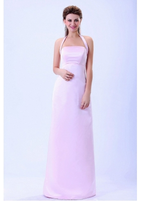 Halter 2013 Baby Pink Bridemaid Dress Column